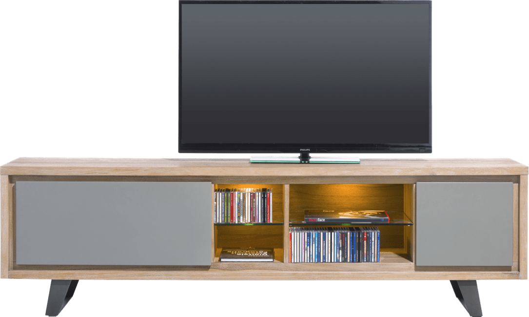 meuble tv box H&H grand modèle gris