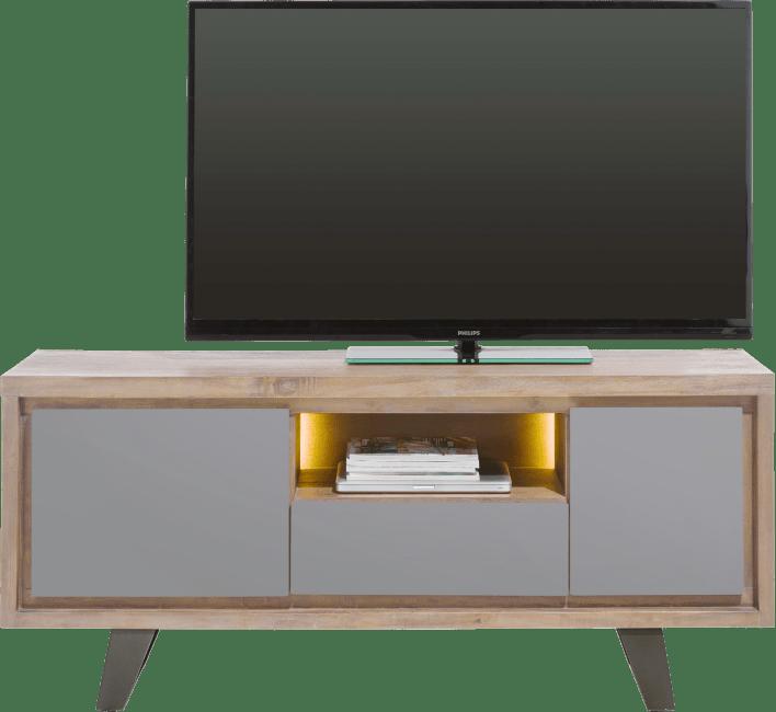 meuble tv box H&H petit modèle gris