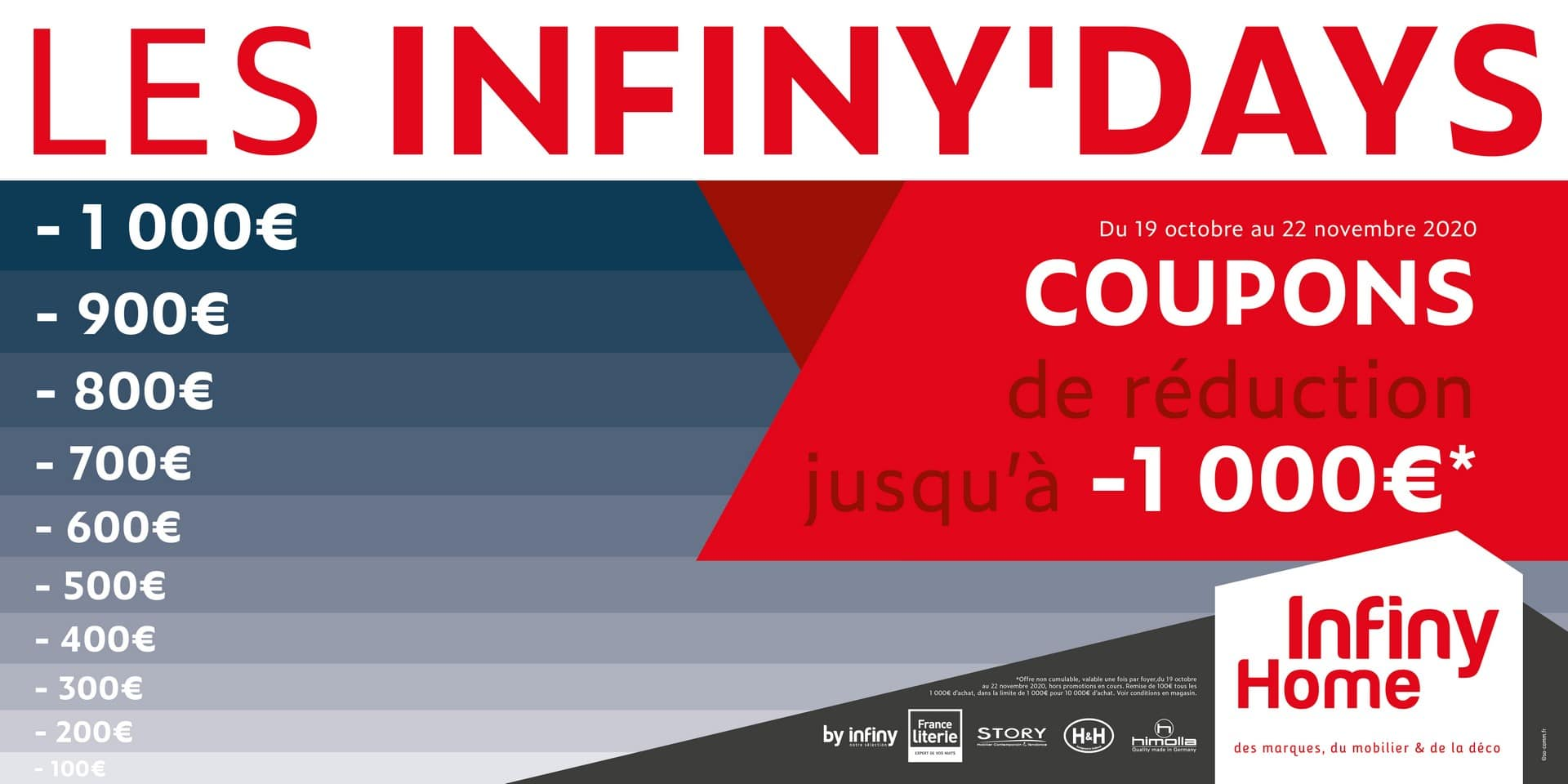 Infiny'days réductions mobilier