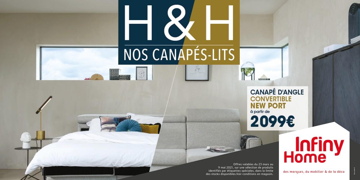 Les canapés-lits H&H chez Infiny Home